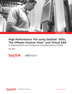 High Performance VDI using SanDisk<sup>®</sup>  SSDs, VMware Horizon View and Virtual SAN