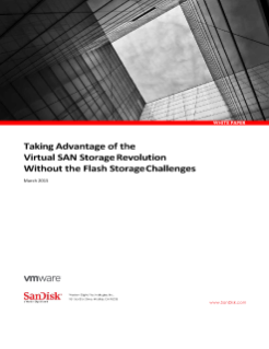 Taking Advantage of the VirtualSAN Storage Revolution Without the Flash Storage Challenges