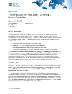 The SSD Enabled PC Total Cost of Ownership